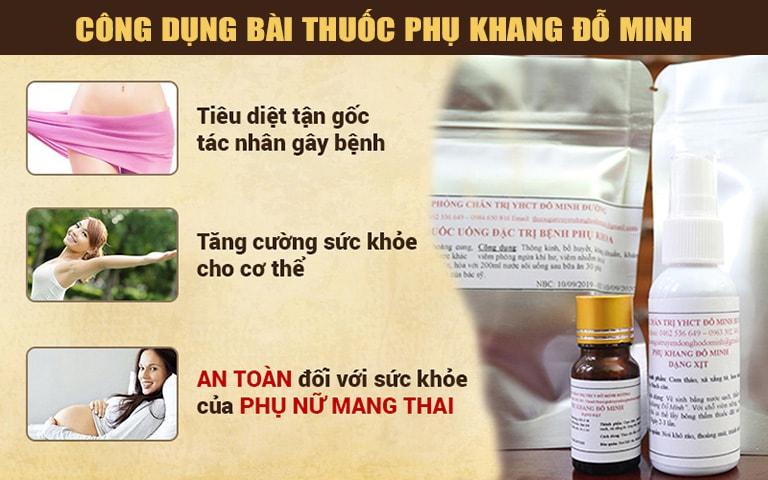Công dụng chữa khí hư của bài thuốc đỗ minh đường