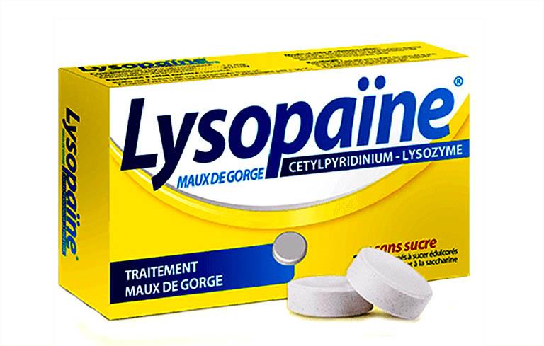 Lysopain là thuốc ngậm có chứa kháng sinh