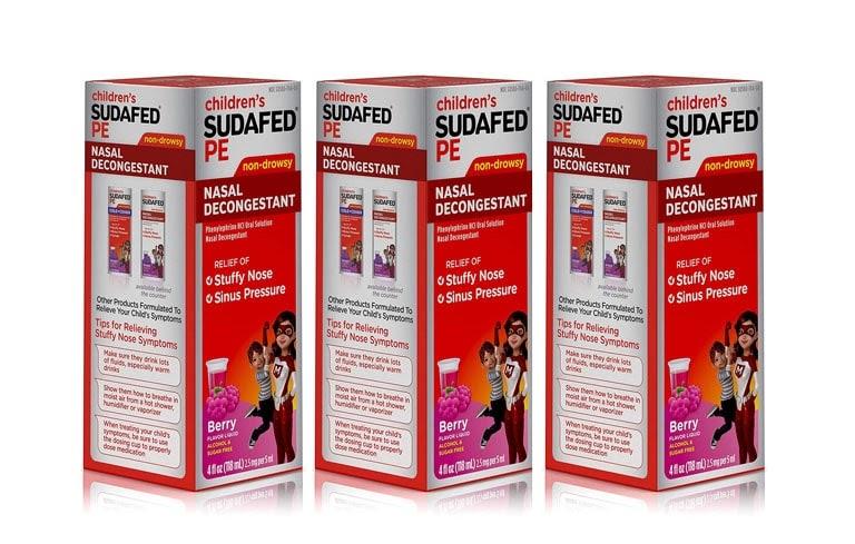 Thuốc Sudafed chữa tắc nghẽn mũi cho trẻ em