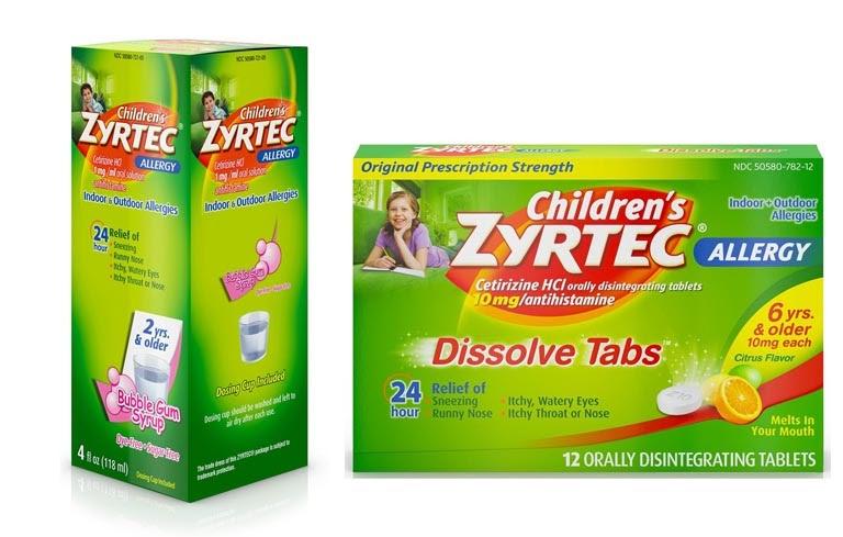 Thuốc trị nghẹt mũi cho trẻ em Zyrtec