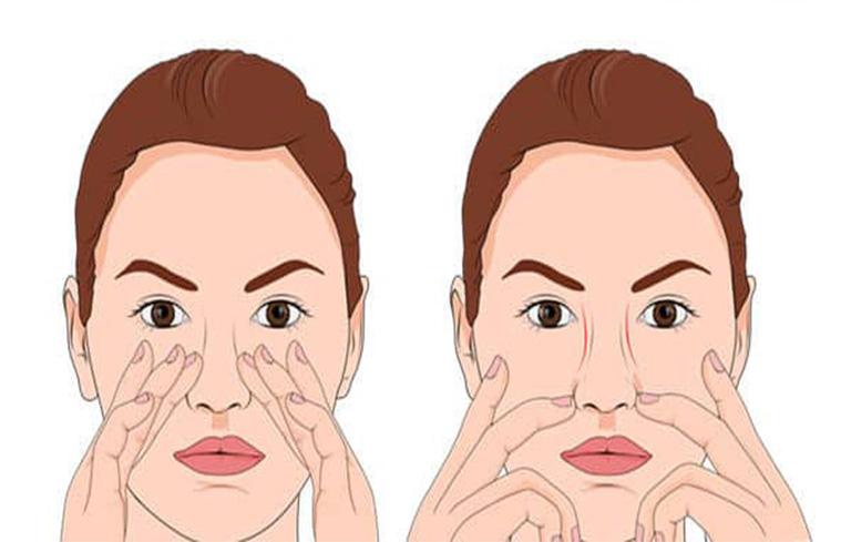 Mát xa giúp lưu thông khí và hạn chế tiết dịch nhầy gây tắc mũi