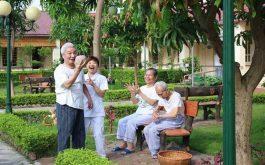 Viện dưỡng lão Thiên Đức có không gian xanh