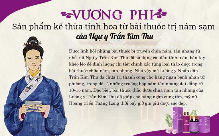 Vương Phi kế thừa tinh hoa bài thuốc trị nám sạm của Lương y Nhân dân Trần Kim Thu