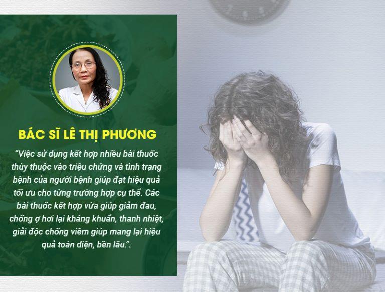 Bác sĩ CKII Lê Thị Phương - GĐ chuyên môn Trung tâm Thừa kế và Ứng dụng Đông y Việt Nam, đánh giá về bài thuốc Sơ can Bình vị tán