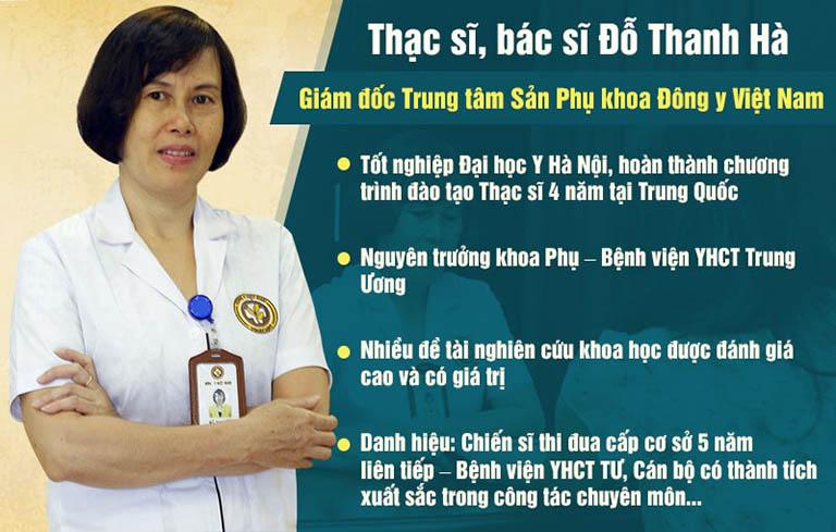 Bác sĩ Đỗ Thanh Hà với nhiều năm kinh nghiệm khám chữa đã trở thành cái tên quen thuộc với nhiều thế hệ phụ nữ