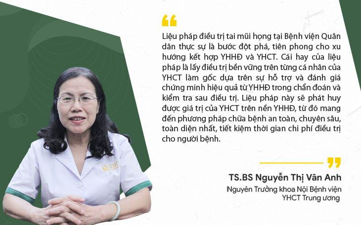 Bác sĩ Vân Anh nhận xét liệu pháp điều trị