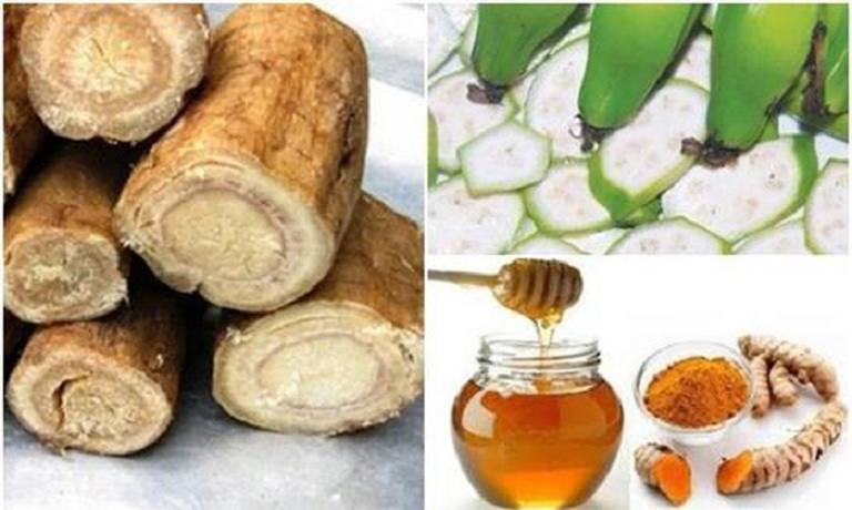 Bài thuốc chữa dạ dày với chuối hột, mật ong, sắn dây và nghệ