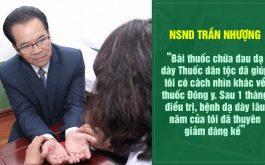 NSND Trần Nhượng tin dùng bài thuốc chữa đau dạ dày Thuốc dân tộc