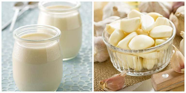 Tỏi kết hợp với sữa chua chữa viêm phần phụ