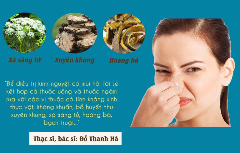 Điều trị kinh nguyệt có mùi hôi bác sĩ Hà sẽ kết hợp cả thuốc ngâm và thuốc uống trong
