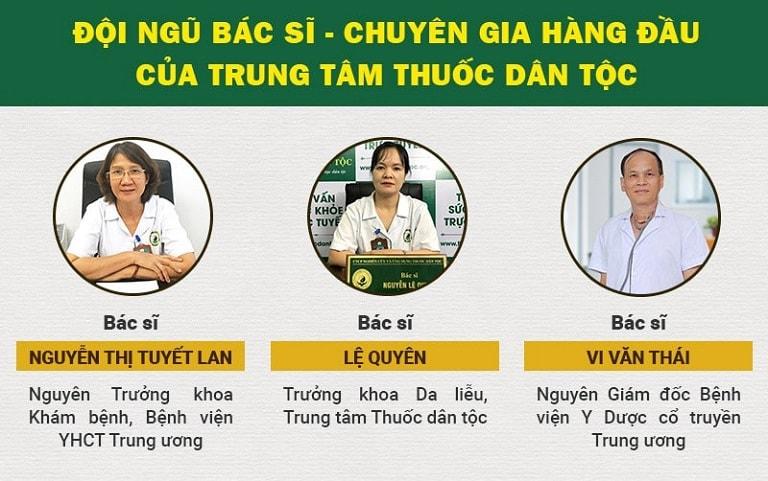 Hình ảnh đội ngũ bác sĩ Trung tâm Thuốc dân tộc