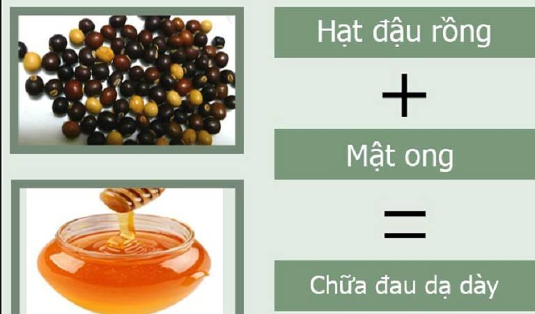 Điều trị bệnh dạ dày bằng hạt đậu rồng và mật ong