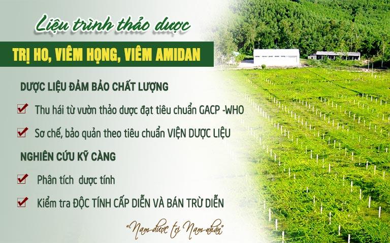 Bệnh viện Tai Mũi Họng Quân Dân 102 sử dụng nguồn thảo dược chất lượng, an toàn
