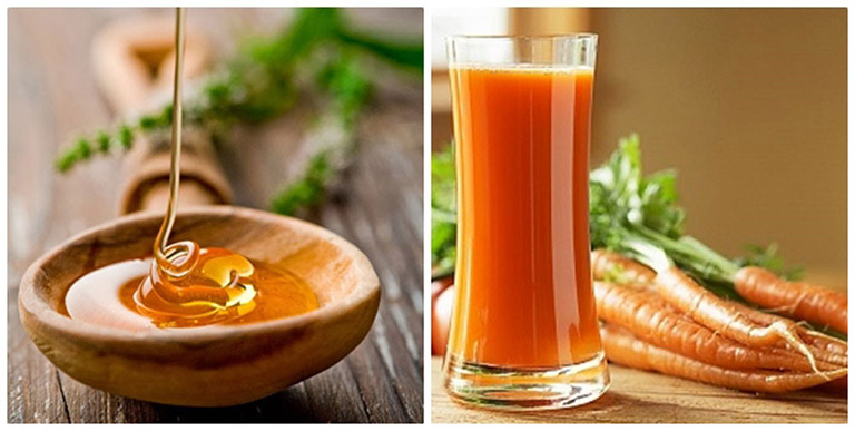 Mặt nạ mật ong và cà rốt có tác dụng đẩy lùi mụn trứng cá và giảm thâm