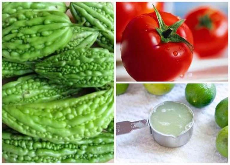 Mặt nạ khổ qua, cà chua và chanh tươi có tác dụng làm mờ các vết thâm nám hiệu quả