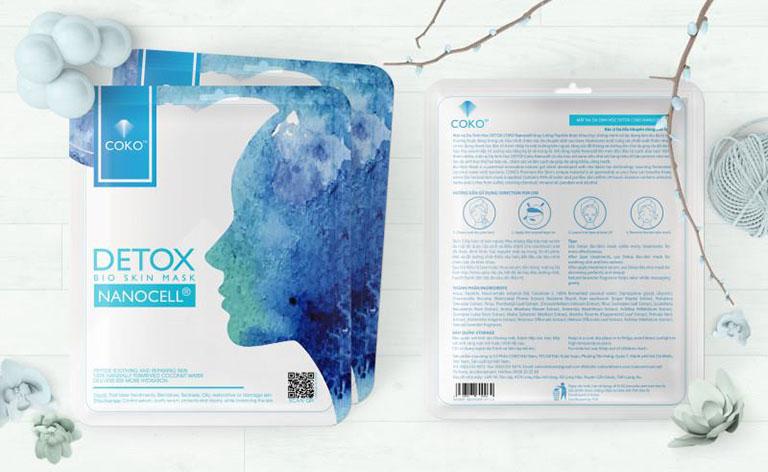 Mặt nạ sinh học tế bào gốc COKO Detox có khả năng điều trị mụn rất tốt, phù hợp với nhiều loại da