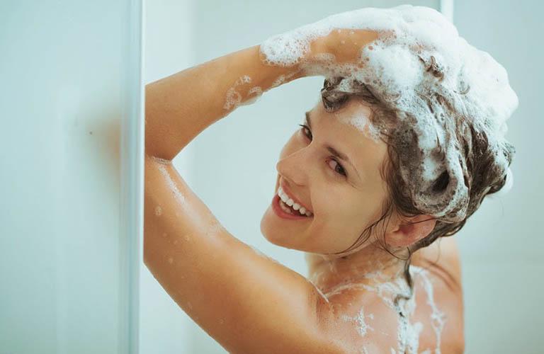 Tắm sau khi tập thể dục