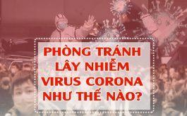 Cách phòng tránh virus corona