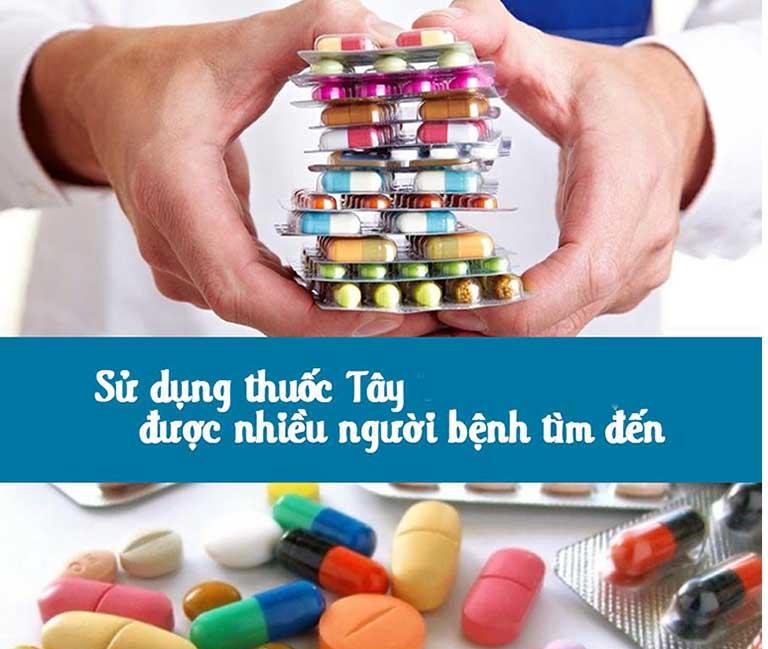 Thuốc Tây được áp dụng nhiều trong điều trị viêm phần phụ cấp tính
