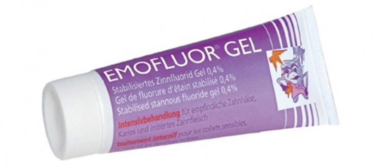 Gel bôi hỗ trợ điều trị viêm nha chu Emofluor Gel của Thụy Điển