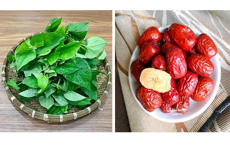 Cách chữa viêm tai giữa bằng rau diếp cá và táo đỏ