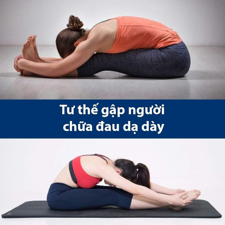 Tư thế yoga gập người về phía trước chữa đau dạ dày