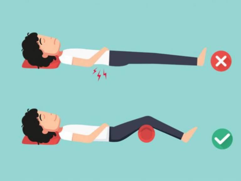 tư thế ngủ cho người bị đau lưng