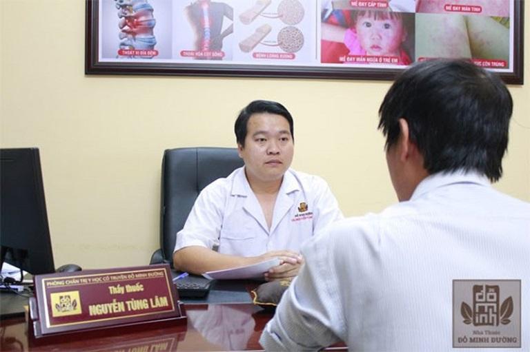 Thầy thuốc Nguyễn Tùng Lâm là một bác sĩ chữa dị ứng giỏi khu vực phía nam, được nhiều người tin tưởng