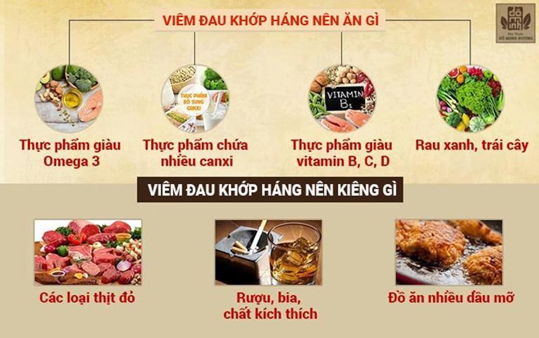Viêm khớp háng nên ăn gì?