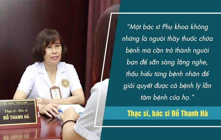 Bác sĩ Hà luôn được biết đến là một vị bác sĩ có tâm