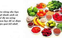 Chế độ ăn uống ảnh hưởng nhiều đến quá trình chữa và hồi phục bệnh