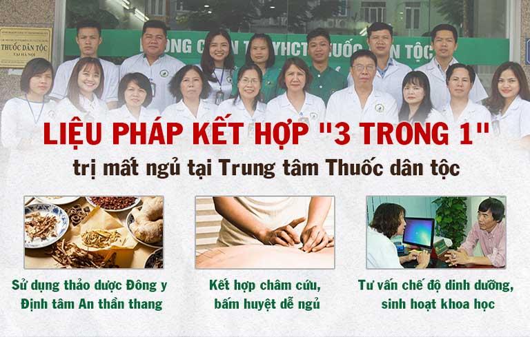 Liệu pháp điều trị mất ngủ tại Trung tâm Thuốc dân tộc