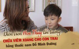 DV Hoa Thúy tin tưởng cho con trai chữa viêm xoang tại Đỗ Minh Đường