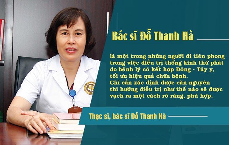 Bác sĩ Thanh Hà với phương pháp điều trị đau bụng kinh hiệu quả