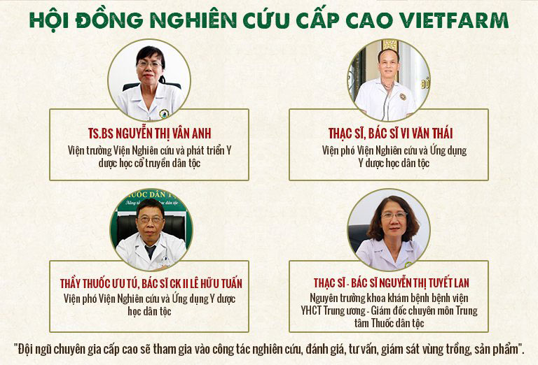 đội ngũ chuyên gia cấp cao Vietfarm
