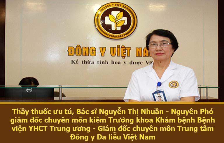 Bác sĩ Nhuần đã có hơn 40 kinh nghiệm trong điều trị bệnh da liễu bằng Đông y