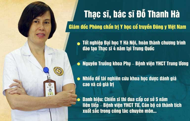 Thạc sĩ, bác sĩ Đỗ Thanh Hà có 40 năm kinh nghiệm chữa bệnh Sản Phụ khoa bằng Đông y