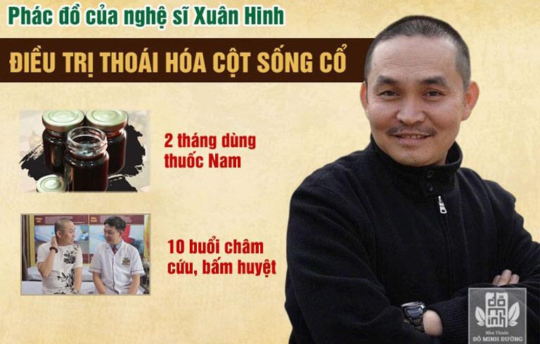 Nghệ sĩ Xuân Hinh chữa khỏi bệnh tại Đỗ Minh Đường