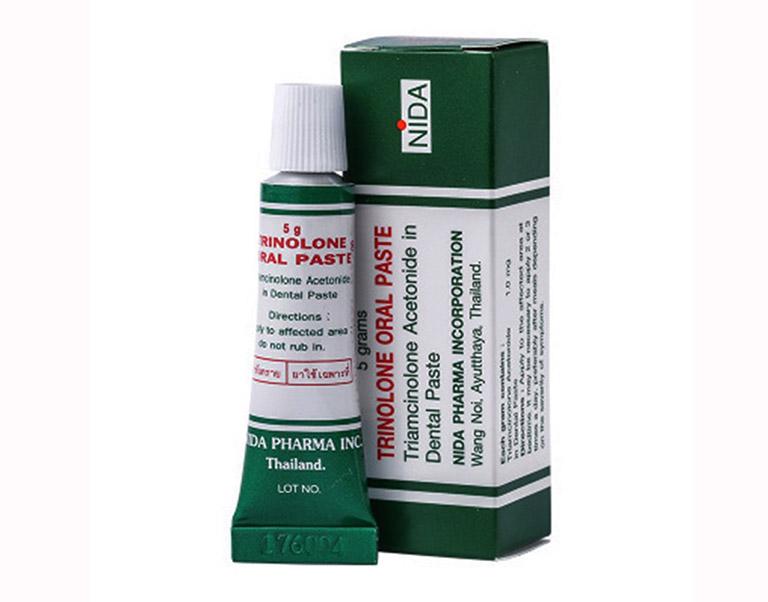 Kem bôi trị nhiệt miệng Trinolone Oral Paste là sản phẩm có nguồn gốc và xuất xứ từ nước Thái Lan