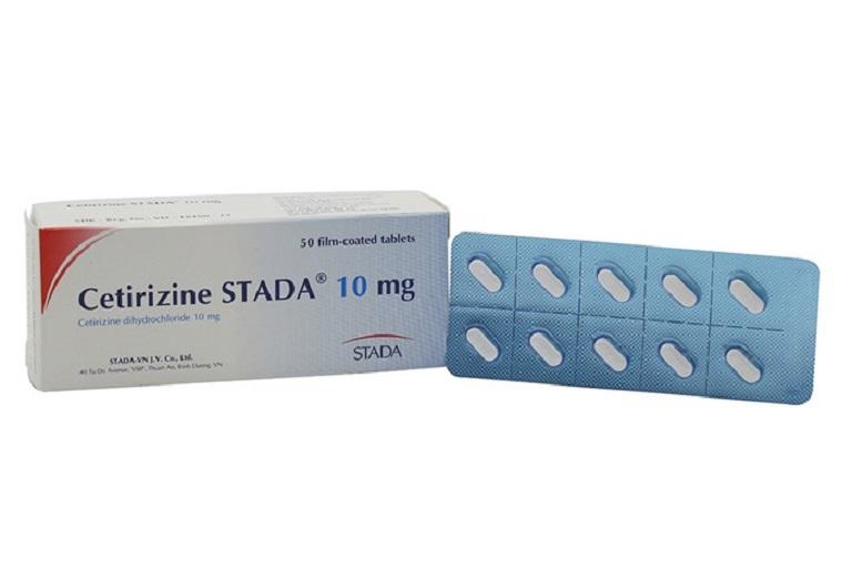 Thuốc Cetirizine STADA giúp giảm nhanh các triệu chứng mẩn ngứa, hắt hơi...