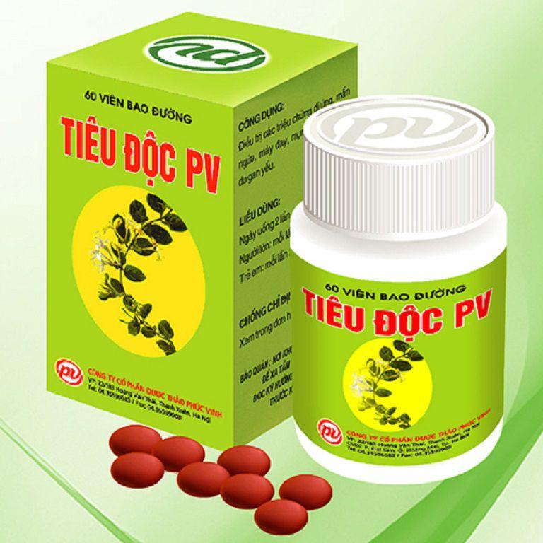 Tiêu độc PV là sản phẩm hỗ trợ điều trị nổi mề đay hiệu quả
