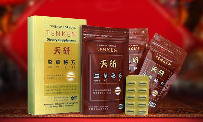 Viên uống đông trùng hạ thảo Tenken được nghiên cứu và sản xuất bởi công ty Seiken Well và hãng dược AIN Pharmaceutical
