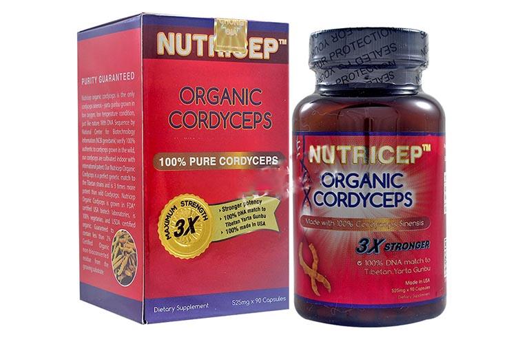 Viên uống Nutricep Organic Cordyceps của Mỹ có tác dụng tăng cường năng lượng sức khỏe, bảo vệ chức năng gan, thận, chống lão hóa da tự nhiên,...