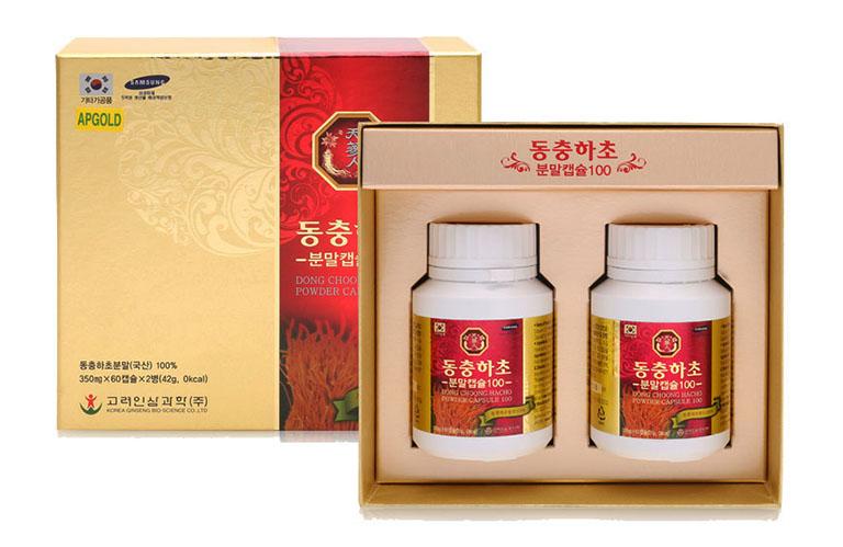 Viên uống đông trùng hạ thảo Bio Apgold được điều chế từ 100% đông trùng hạ thảo thiên nhiên