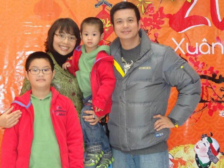 Diễn viên Lê Bá Anh và gia đình