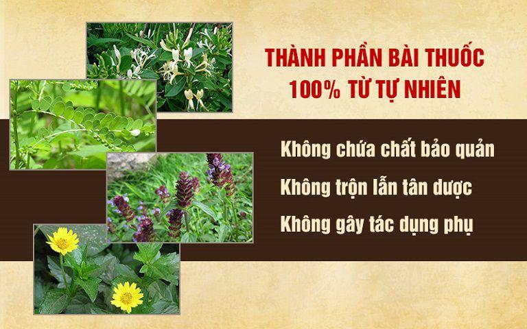 Bài thuốc hoàn toàn từ tự nhiên, an toàn và lành tính với sức khỏe