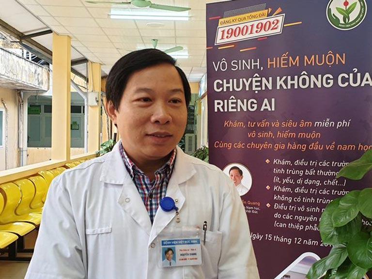 Bác sĩ Nguyễn Quang chuyên khám và điều trị các bệnh nam khoa