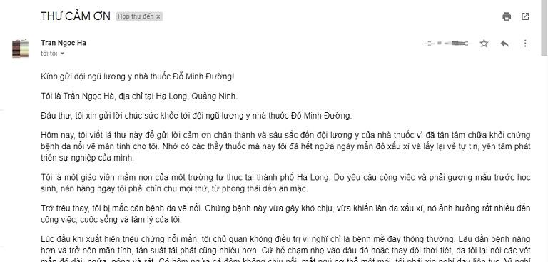 Nội dung bức tâm thư của cô giáo gửi đến đội ngũ lương y nhà thuốc Đỗ Minh Đường