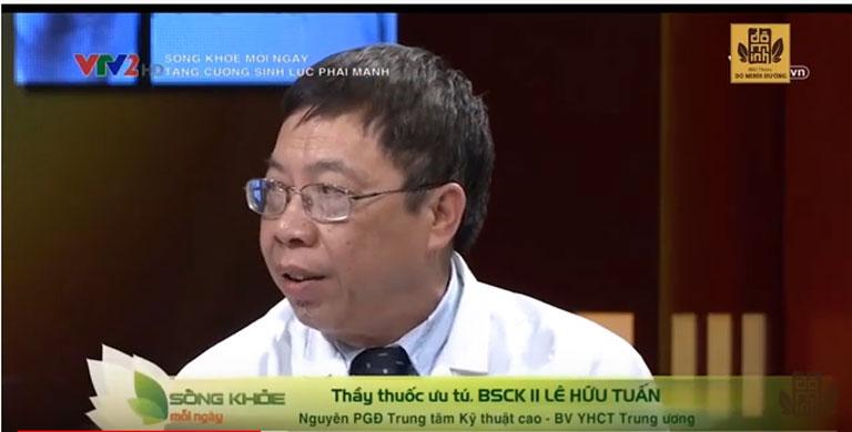 Bác sĩ Lê Hữu Tuấn cùng lương y Đỗ Minh Tuấn tham gia chương trình Sống Khỏe Mỗi Ngày