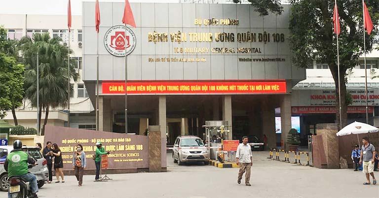Bệnh viện Trung ương Quân đội 108 tọa lạc tại số 1 Trần Hưng Đạo, quận Hai Bà Trưng, Hà Nội